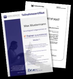 e-Trainer Qualifizierung Zertifikate FernUniversität in Hagen